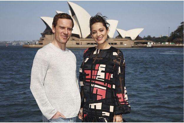Marion Cotillard et Michel Fassbender à Sydney