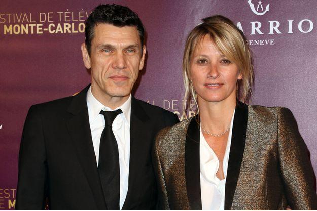 Marc Lavoine et sa femme, Sarah, à Monaco en 2013.