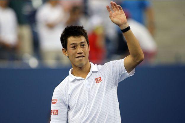Kei lors de son match avec Stan Wawrinka à l'US Open.