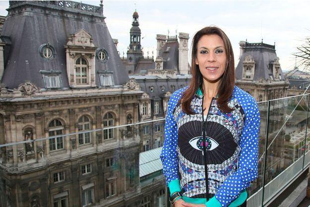 """Marion Bartoli présente la collection capsule """"Love Fila x Marion Bartoli"""" au BHV à Paris"""