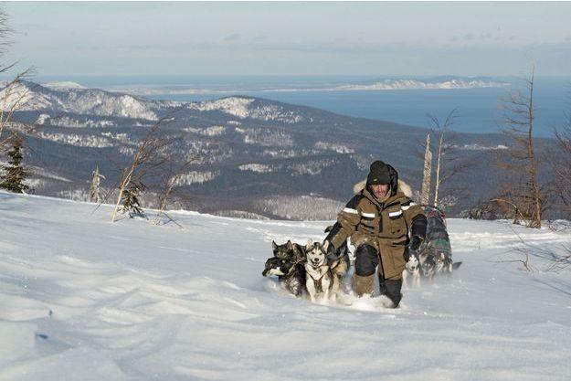 20 décembre 2013. On devine le Pacifique (au fond, à droite). Arrivée au lac Baïkal prévue mi-mars, mais c'est la glace qui décide.