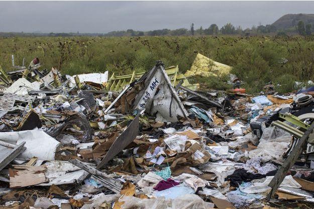 Des débris de l'appareil de la Malysia Airlines