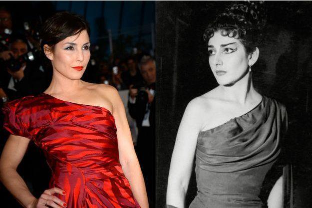 Noomi Rapace en mai 2015 et Maria Callas en 1954.