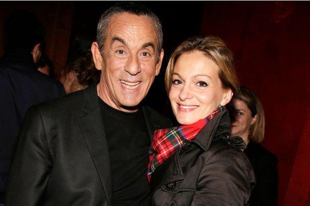 Audrey Crespo-Mara et son époux, Thierry Ardisson, à Paris, le 24 septembre 2015.