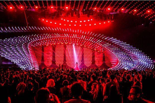 La scène de l'Eurovision à Viennes (Autriche).