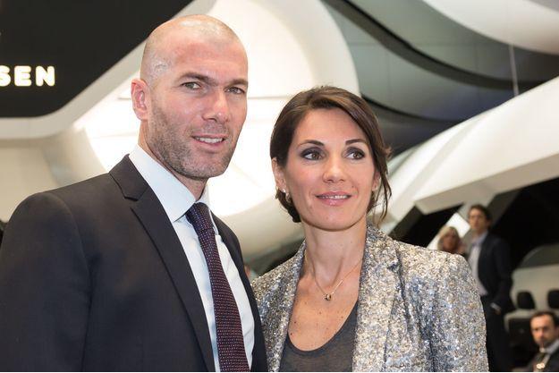 Zinédine Zidane et sa femme, Véronique