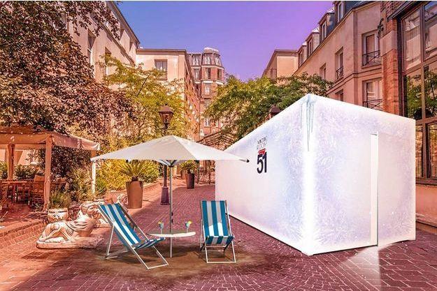 «L'Artic-Room 51», le premier ice container nomade est installé à Paris jusqu'au 30 septembre.