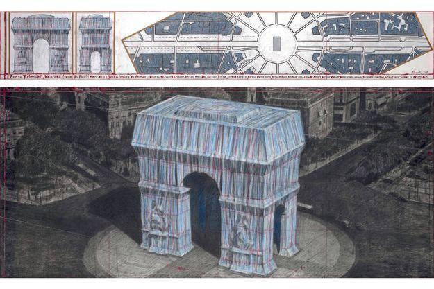 L'Arc de Triomphe emballé par Christo