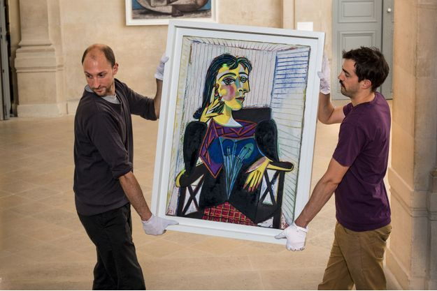 "Au musée Picasso en 2015 : ""Portrait de Dora Maar"" (1937)"
