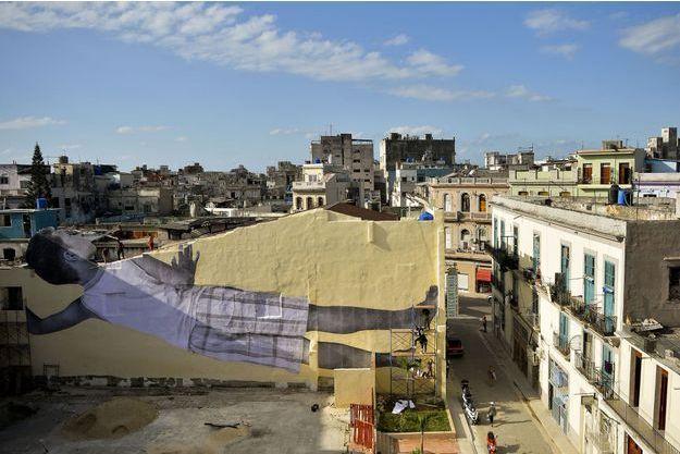 La nouvelle oeuvre de JR à La Havane.