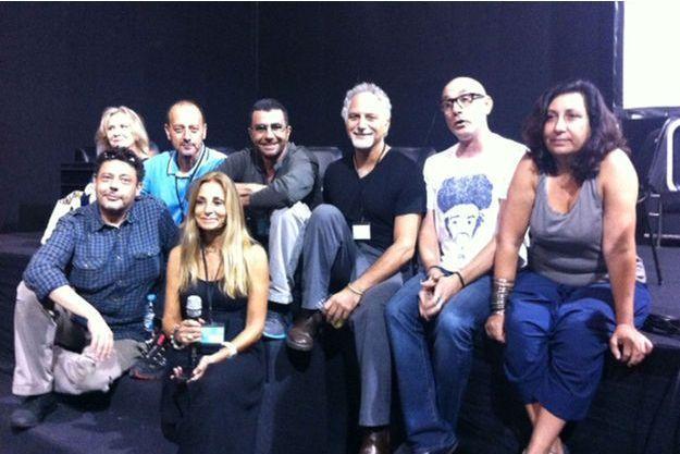 De droite à gauche: Aline Manoukian, Roger Moukarzel, George Azar, Patrick Baz, Jacques Dabaghian, Marine Jacquemin, Samer Mohdad, et Katya Traboulsi.
