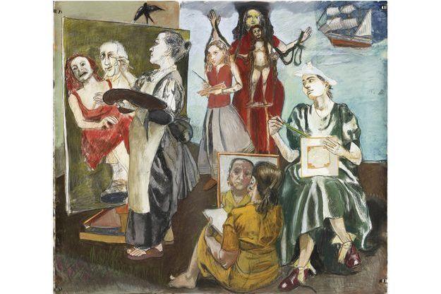 """""""The Balzac Story"""", pastel sur papier (2011), une des 70 oeuvres de Paula Rego présentées à Paris."""