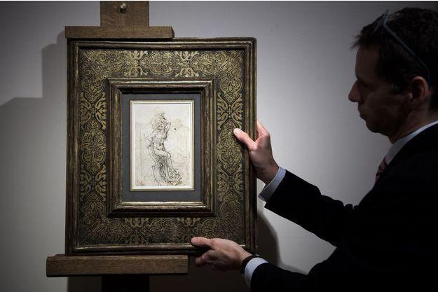 L'étude représentant le martyre de Saint Sébastien attribuée à Leonard de Vinci.
