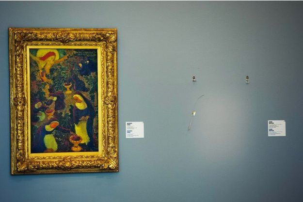 """Le musée Kunsthal de Rotterdam juste après le """"vol du siècle"""", le 16 octobre 2012"""