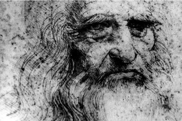 Un autoportrait de Leonard De Vinci (Image d'illustration).