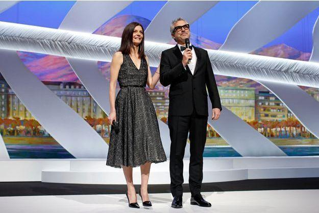 Alfonso Cuaron aux côtés de Chiara Mastroianni lors du Festival de Cannes 2014.