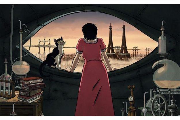 """Une image d'""""Avril et le monde truqué"""", un film inspiré de Jacques Tardi."""