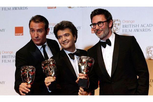 Jean Dujardin, Thomas Langman et Michel Hazanavicius.