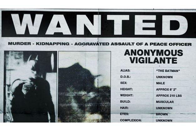 Le faux avis de recherche de Batman, mis en ligne la semaine dernière.