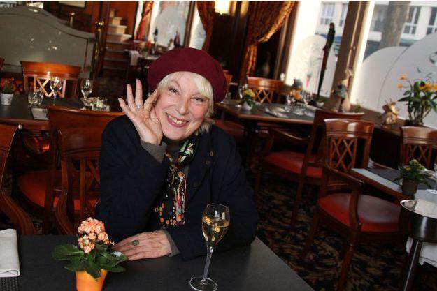 Bernadette Lafont, à Valenciennes, le 6 avril 2012. L'actrice célébrait ses 55 ans de carrière.