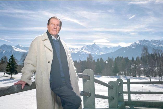 Roger Moore à Crans-Montana, en Suisse