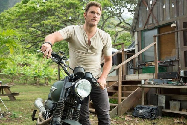 "Chris Pratt dans ""Jurassic World""."