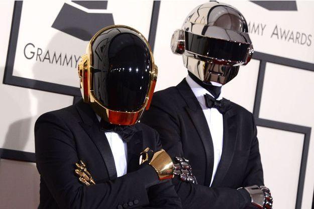 Les Daft Punk aux Grammy Awards, en janvier dernier.