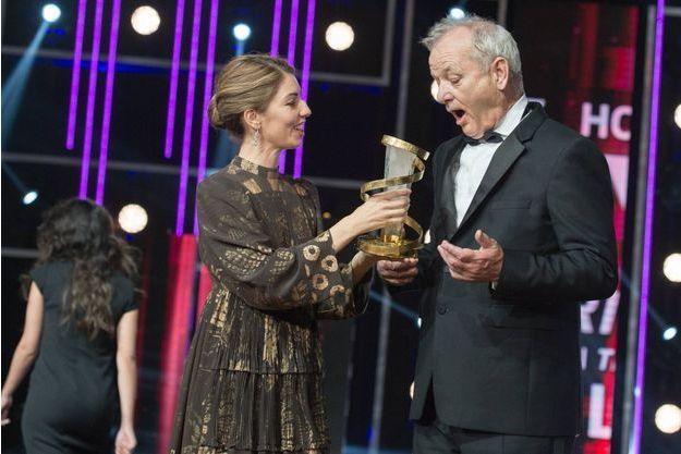 Sofia Coppola remet un prix à Bill Murray. Les deux sont apparus très complices à Marrakech.