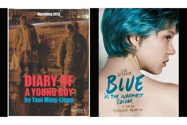"""Les affiches de """"Diary of a Young Boy"""" de Tsai Ming-liang et de «Le Bleu est une couleur chaude» d'Abdellatif Kechiche"""