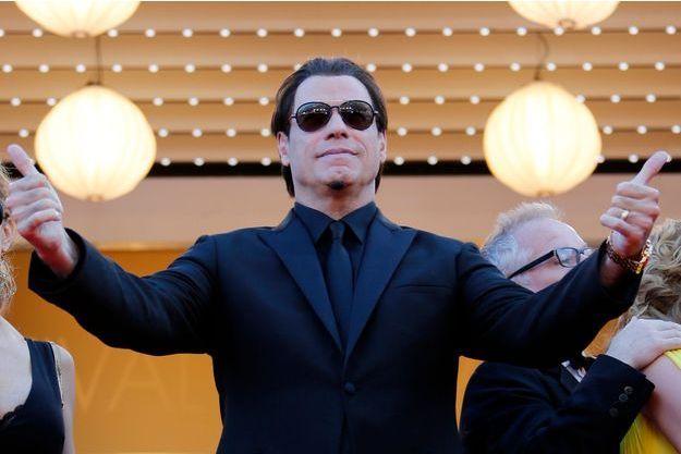 John Travolta sur les marches du Festival de Cannes en 2014.