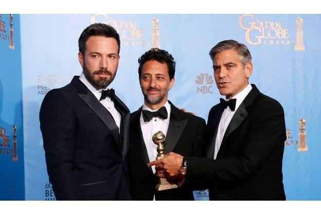 """Ben Affleck, Grant Heslov et George Clooney, le réalisateur et les producteurs d'""""Argo""""."""