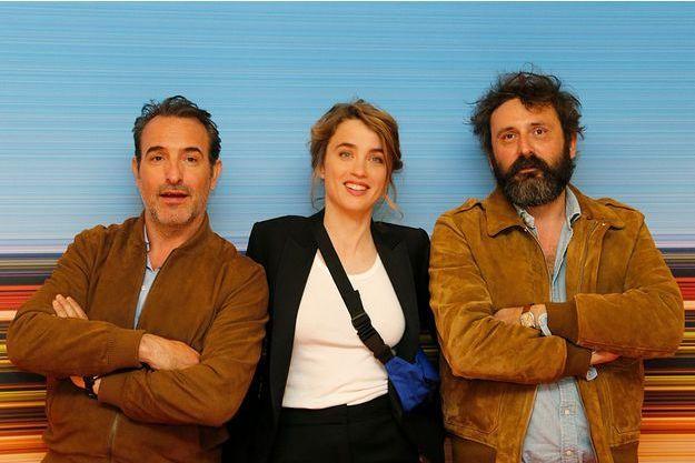 Jean Dujardin, Adèle Haenel et Quentin Dupieux.