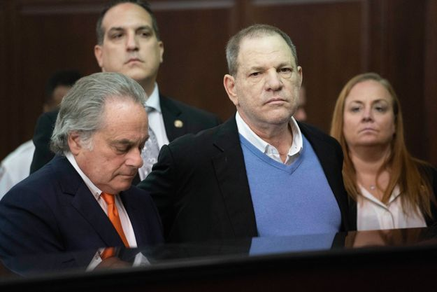 Me Brafman, alors son avocat, et Weinstein au tribunal de New York le 25 mai 2018.
