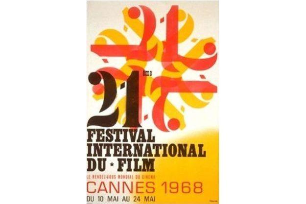 L'affiche du Festival de Cannes 1968