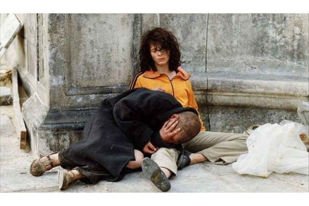 """Juliette Binoche et Denis Lavant dans """"Les Amants du Pont neuf""""."""