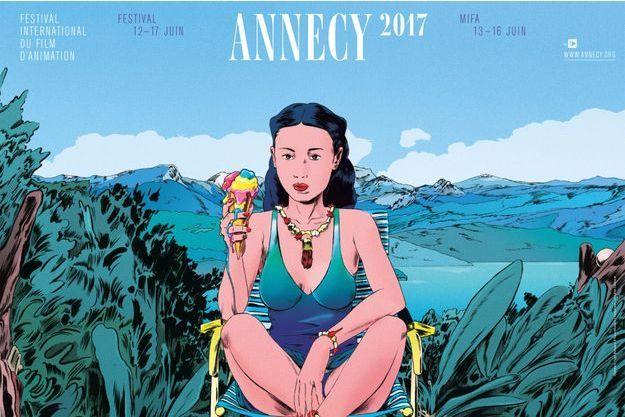L'affiche du 41e Festival international du film d'animation d'Annecy