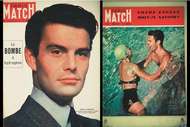 Les deux couvertures de Paris Match.