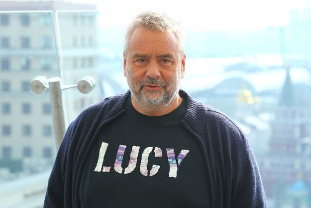 """Luc Besson à Moscou en septembre dernier lors de la présentation de """"Lucy"""""""