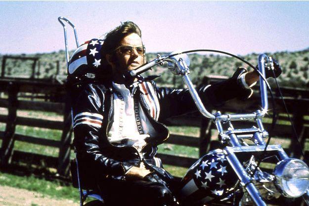 "Peter Fonda dans ""Easy Rider"" en 1969."