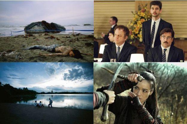 """De haut en bas, de gauche à droite: """"Les Mille et une nuits"""", """"Love in Khon Kaen"""", """"The Lobster"""", """"The Assassin""""."""