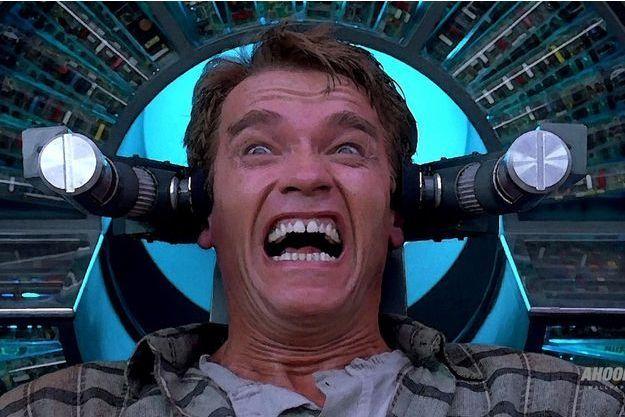 "Arnold Schwarzenegger dans ""Total Recall""."