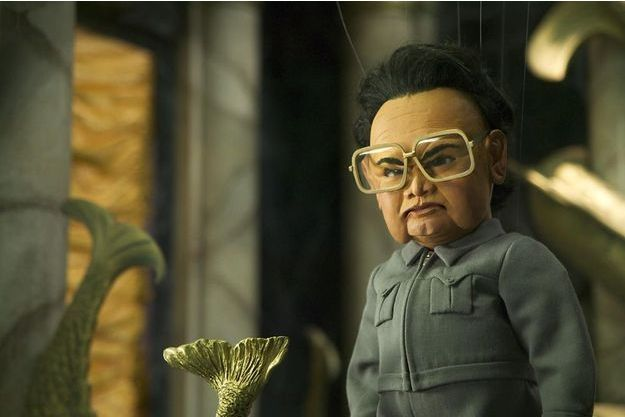 "Kim Jong-il dans ""Team America, police du monde""."