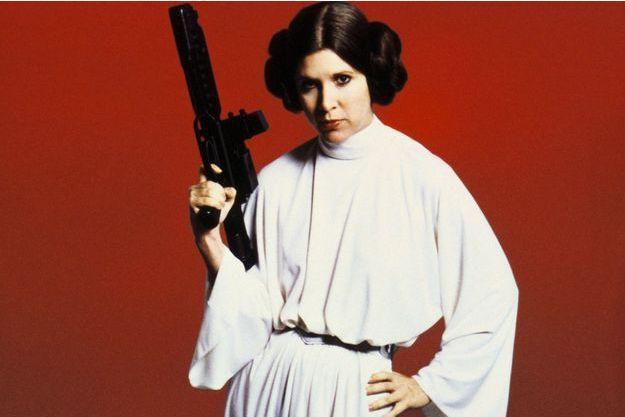 Carrie Fisher en 1977.
