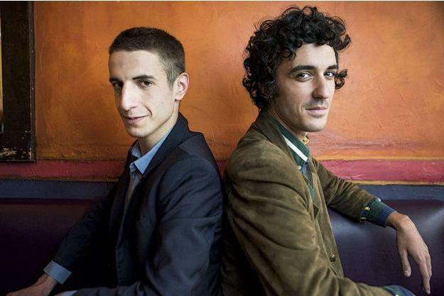 Les romanciers Baptiste Rossi et Arthur Loustalot.
