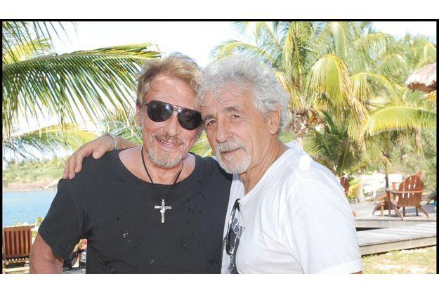 Johnny et Daniel à Saint-Barth en 2010.