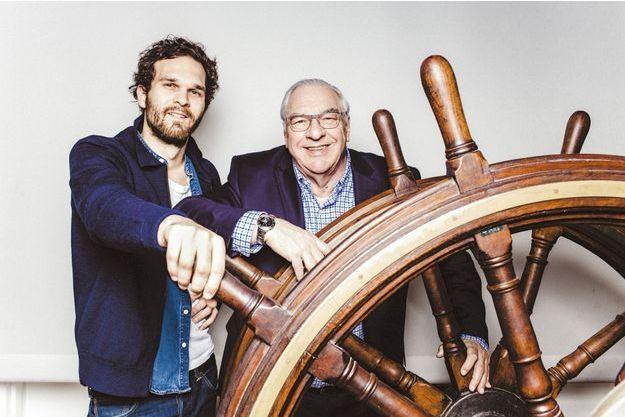 Julien et son père Didier Decoin.