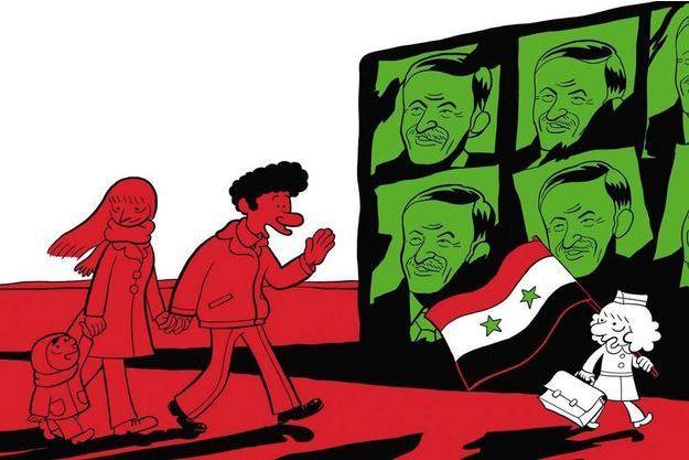 """Un extrait de la couverture de """"L'arabe du futur: tome 2"""""""