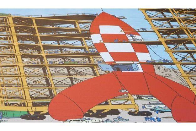La fusée de Tintin est un symbole de la pop-culture.