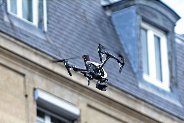 Un drone à Paris (image d'illustration).
