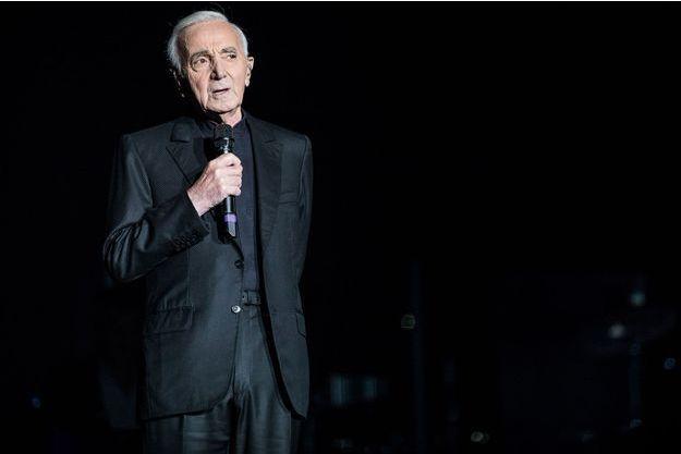 Charles Aznavour, le 13 décembre 2017, à Paris.